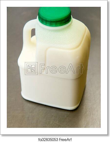 Free art print of Milk and carton. Small green top milk carton and ...