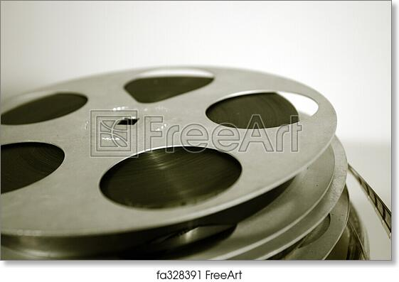 Free art print of film reels 16mm celluloid movie reels freeart free art print of film reels altavistaventures Choice Image