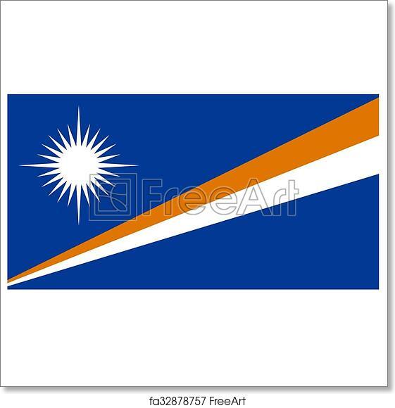 image regarding Marshalls Application Printable called Free of charge artwork print of Marshall Islands Flag