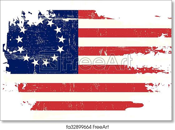 photo regarding Betsy Ross Printable Pictures named Absolutely free artwork print of Scratched betsy Ross Flag