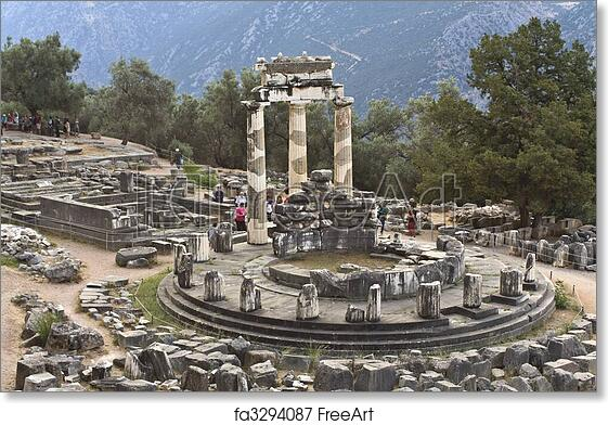Free art print of Temple of Athena pronoia at Delphi oracle archaeological  site in Greece