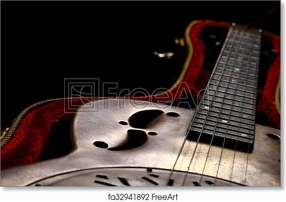 Free Art Print Of Dobro Guitar In Case