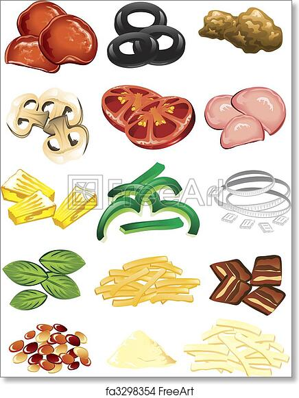 photo regarding Printable Pizza Toppings titled Absolutely free artwork print of Pizza toppings