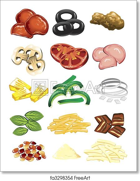 It is a photo of Peaceful Printable Pizza Toppings