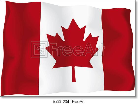 Free Art Print Of Canada Canadian Flag Canadian Wavy Flag