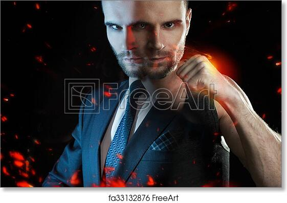 Free art print of Businessman as an athlete fighter, alter ego strong  businessman