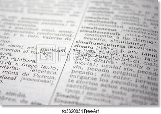image about Printable Job Application in Spanish named No cost artwork print of sin term inside of English-Spanish dictionary