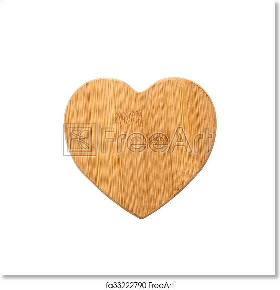 Free Art Print Of Wooden Heart Shape