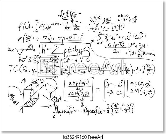 Free art print of Complex math formulas on whiteboard