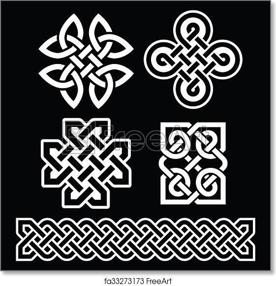 Free Art Print Of Celtic Irish Patterns And Braids On Old