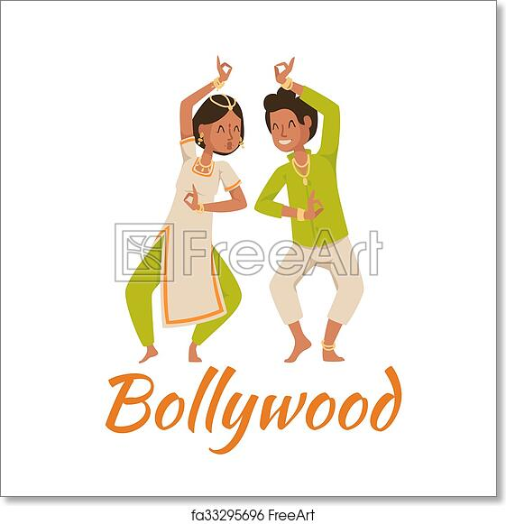 Free art print of Indian Bollywood couple dancing