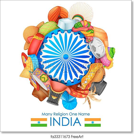 Free Art Print Of Unity In Diversity Of India Illustration Of
