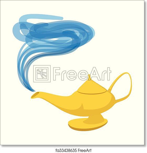 Free Art Print Of Lamp Aladdin Cartoon Icon