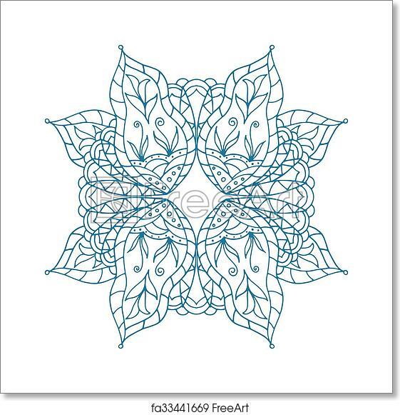 Free Art Print Of Mandala Art Pattern