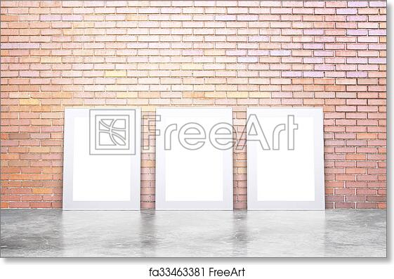 Free art print of Blank white picture frames on concrete floor and ...
