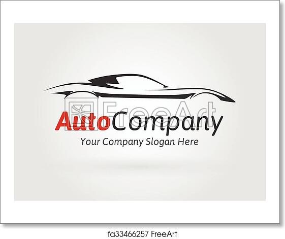 All Cars Logo With Name: Free Art Print Of Company Sports Car Silhouette Logo