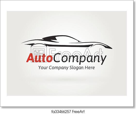 Free Art Print Of Company Sports Car Silhouette Logo Modern Auto Company Vehicle Logo Design Concept With Sports Car Silhouette Vector Illustration Freeart Fa33466257