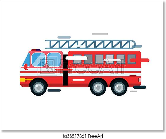 Free Art Print Of Fire Truck Car Isolated Cartoon Silhouette Fire