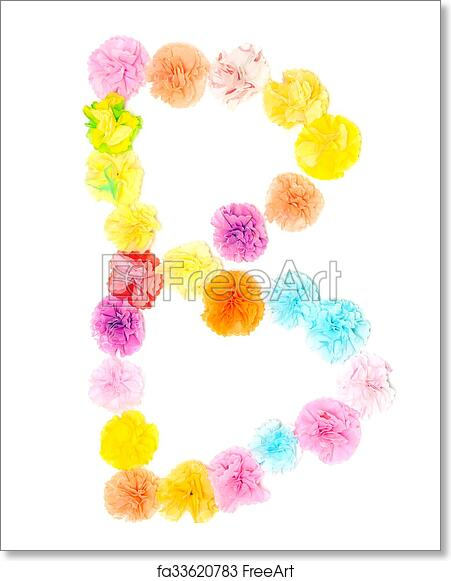 Free Art Print Of B Alphabet Flowers Made From Paper Craftwork