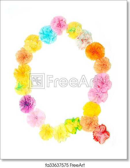 Free Art Print Of Q Alphabet Flowers Made From Paper Craftwork