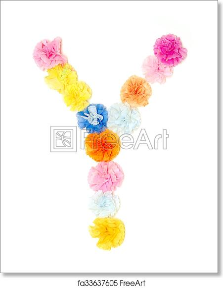 Free Art Print Of Y Alphabet Flowers Made From Paper Craftwork