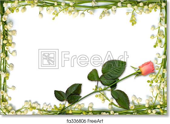 Free art print of Beautiful flower frame with pink rose background ...