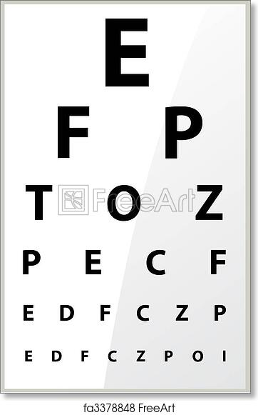photo relating to Printable Eye Chart identify Cost-free artwork print of Health care - Fuzzy sight of eye chart