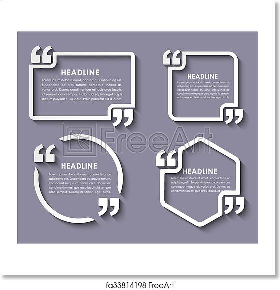 Free Art Print Of Quotes In Quotation Marks In On Stickers A Set Of