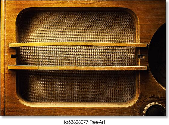 Free art print of Old Wooden Radio Design . Design of an old wooden ...