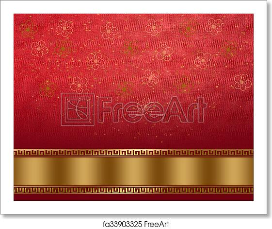 free art print of chinese new year background