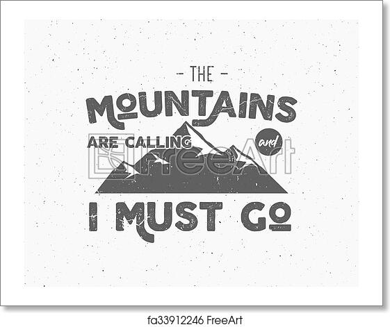 Free Art Print Of Outdoor Inspiration Background Motivation Mountain Brochure Quote Template Winter Snowboard Sport Flyer Mountains Are Calling