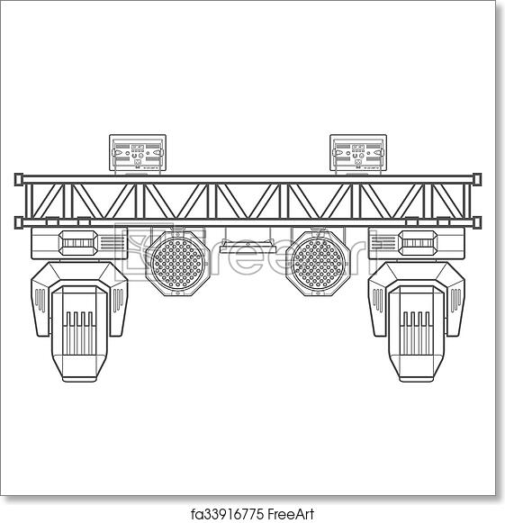 Free art print of Outline stage metal truss concert lighting ...
