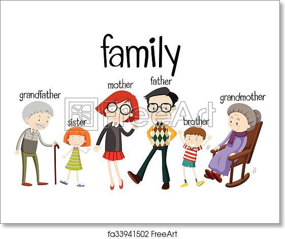 Cartoon Printable Family Members