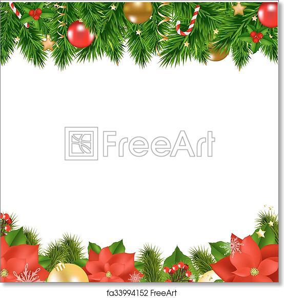 graphic relating to Free Printable Christmas Borders identify Totally free artwork print of Xmas Borders