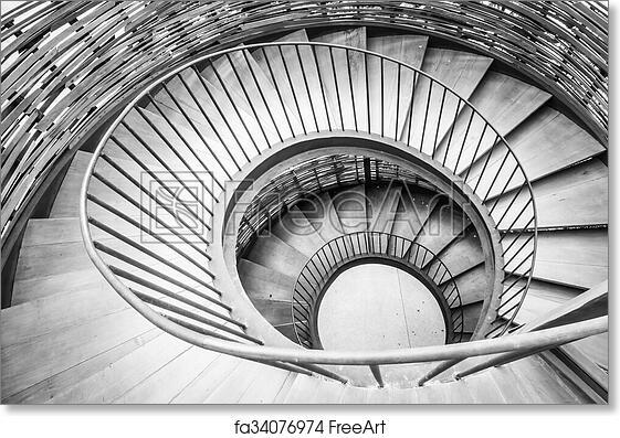 Free Art Print Of Spiral Circle Staircase