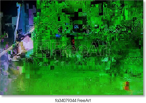 Free art print of Television broadcast failure