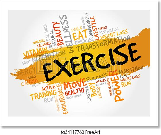 Free Art Print Of Exercise Word Cloud Fitness Exercise Word Cloud Fitness Sport Health Concept Freeart Fa34117763
