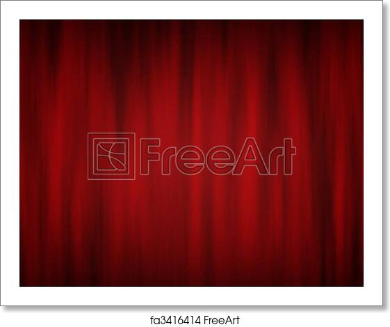 free art print of theatre curtains digitally generated red theatre