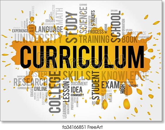 Free Art Print Of CURRICULUM Word Cloud CURRICULUM Word Cloud