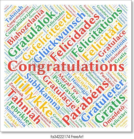 free art print of congratulations
