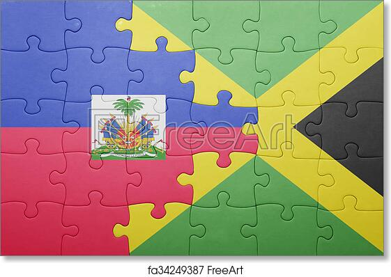 Free art print of Puzzle with the national flag of jamaica and haiti ...