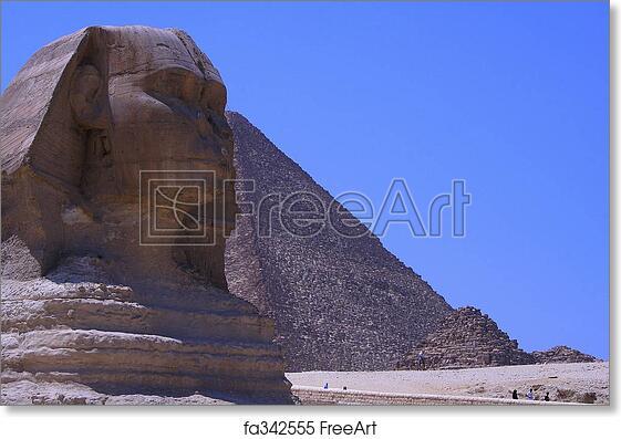 free art print of sphinx pyramids sphinx the pyramids freeart