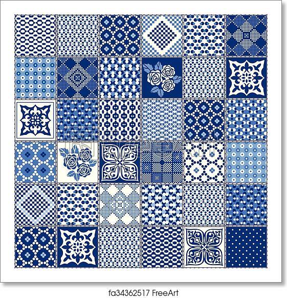 Free Art Print Of Creative Seamless Patchwork Pattern