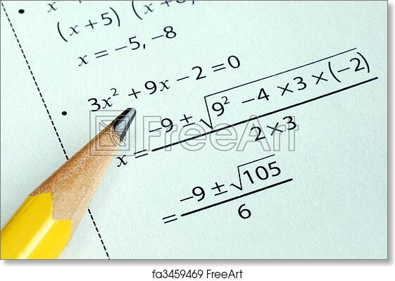 Free art print of Doing some grade school Math with a pencil ...