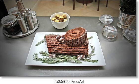 Christmas cake buche de noel
