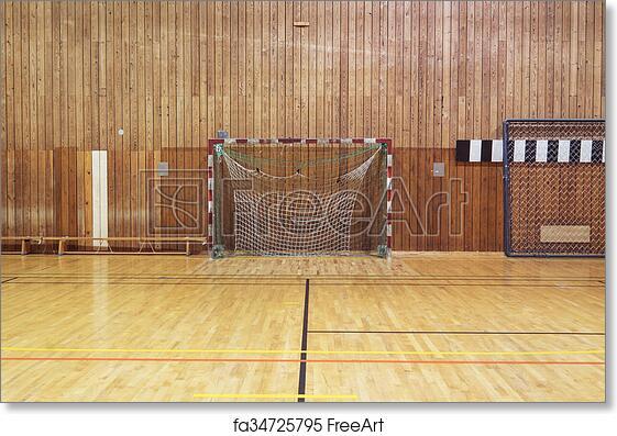 Wonderful Free Art Print Of Retro Indoor Soccer Goal