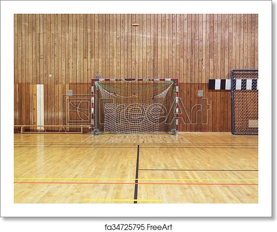 Free art print of Retro indoor soccer goal. Soccer goalpost in old ...