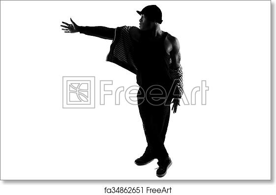 Free Art Print Of Silhouette Hip Hop Dancer