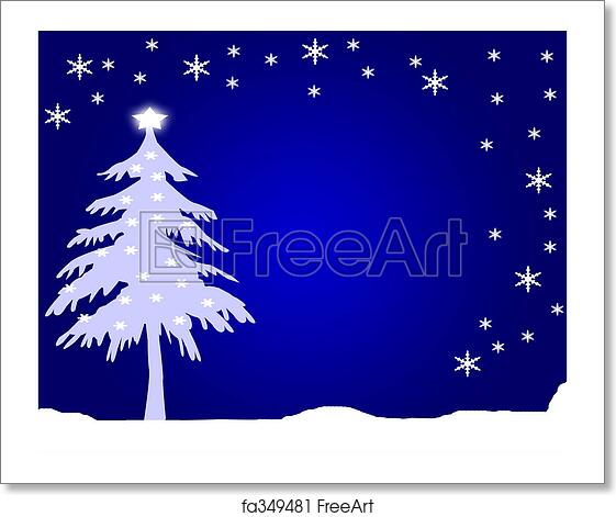 free art print of xmas scene christmas themed background freeart