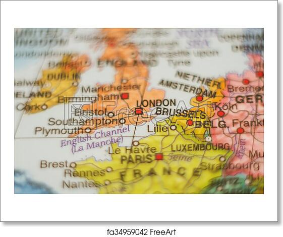 Country Map Of England.Free Art Print Of England Country Map Beautiful Photo Of A Map Of